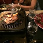 The barbecue on the table