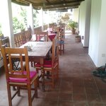 external dining terrace overlooking the River Guadiaro