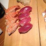 sushis thon, crevette