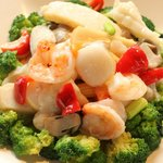 Seafood with Broccoli