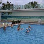 Aquarobics round the pool