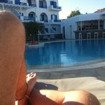 My rest at the swiming pool