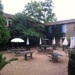 beautiful courtyard for celebrations, right outside our room.