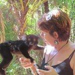 Marcine at the Lemur park
