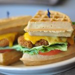 Chicken and Waffle Burger