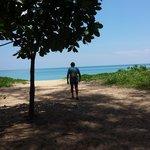 Beach across the road from Dewa Phuket