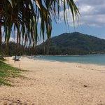 Looking south to main area of Nai Yang beach