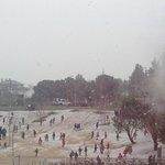 Они так радовались снегу (Вид на детский сад)