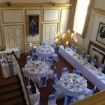 Great Hall set up for a Wedding Breakfast