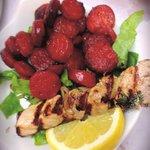 Chorizo and chicken kebabs yum!