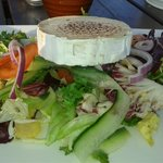 SEASONAL SALAD WITH GRILLED GOATS CHEESE