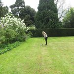 Playing croquet at Hidcote