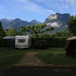 View from our pitch in the campsite