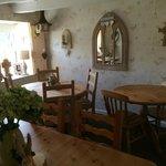 Lovely decor inside the cottage