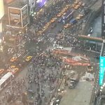 View of Times Square from 33rd floor