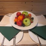 our fruit platter on arrival