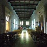 La Serena, Chile, Iglesia Santo Domingo. Vista desde acceso hacia altar mayor.