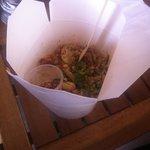 Pad Thai (vegetarian) in a box