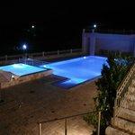 Almyra's pool by night
