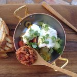 Burrata & Bread - Heirloom Tomato, Bacon, Arugula Pesto