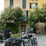 Our bike outside Hotel Fioroni