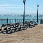 Pier 7 --- nice lamps and seating for lunch (buy lunch at Ferry Building nearby)