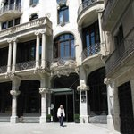 Facade of hotel on end of Passeig de Gracia - Gorgeous!