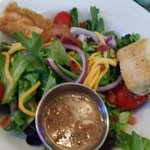 Side salad with Steen's Cane Vinaigrette