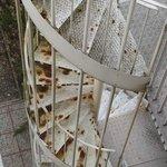 escalier rouillé
