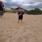 Granddaughter enjoying the beach