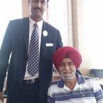 Dad and Ranjith (Executive F&B) at Restaurant