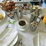 Room service breakfast spread