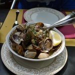 Vongole (clams) with ginger