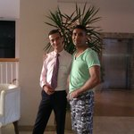 with Khaled Morsey Hotel receptionist