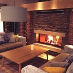 Cosy Fireplace in Relaxation Lounge