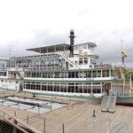 Riverboat boarding area