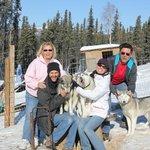 Kelly family enjoys the dogs!