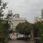 vista da Pça Catalunha - qto 208