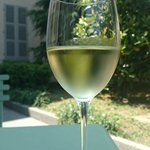 A glass of Traminer