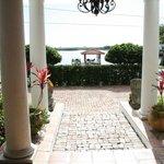 view from front door of inn