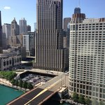 View of Chicago River from room on 25th floor