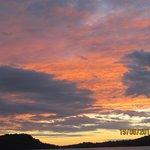 tramonto sulla spiaggia del Loharano