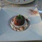 fondant chocolat, coeur pistache
