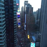 View of Times Square from room 3501