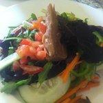 Ensalada con verduras de la huerta