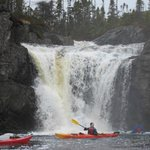 Kayaking along the shores of Woody Island