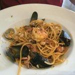 Seafood spaghetti (di mare). Sooo good!