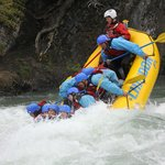 Time to get wet! This is us playing with the rapids! They do not always do this I am told.