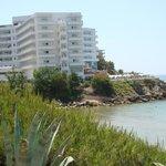 vue hôtel de la plage