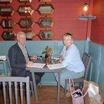 corner table with new decor